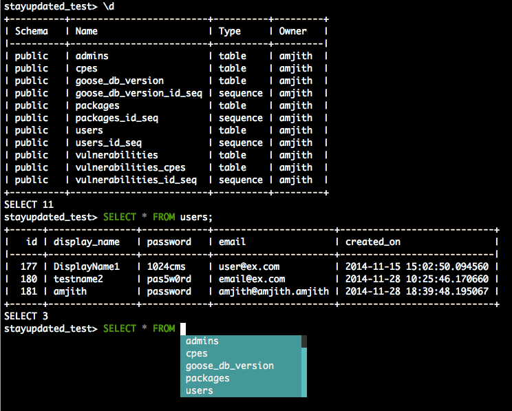 A REPL for Postgres — pgcli latest documentation